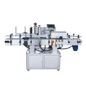 Automatic in line round bottle labelling machine
