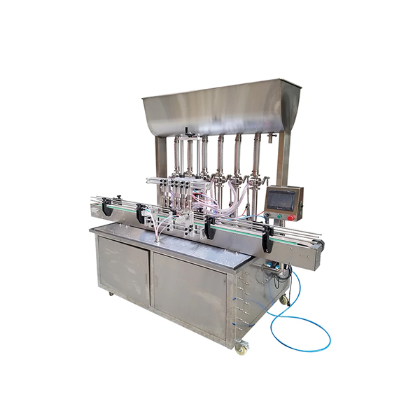 Fully Automatic 6 Head Rotary Piston Filler with Hopper