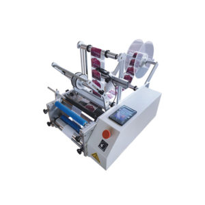 Semi-automatic bottle labelling machine